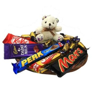 chocolate and teddy bear on low price