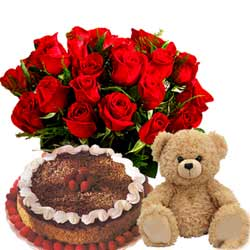 Send flowers,cake and teddy