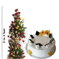 Send big basket online and pineapple cake online