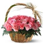 Send rose basket online