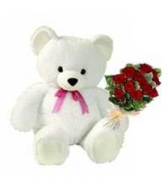 12_Red_Rose_Bunch_With_Two_Teddy_Bear_delivery