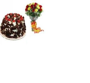 Black_Forest_Cake_with_Mix_Rose_1229
