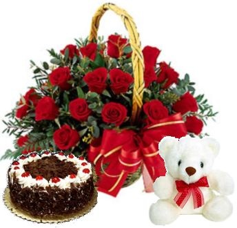 Cake Teddy Flowers Delivery Nabha