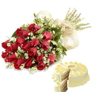 red_roses_&_fresh_fruit _cake _best_deal