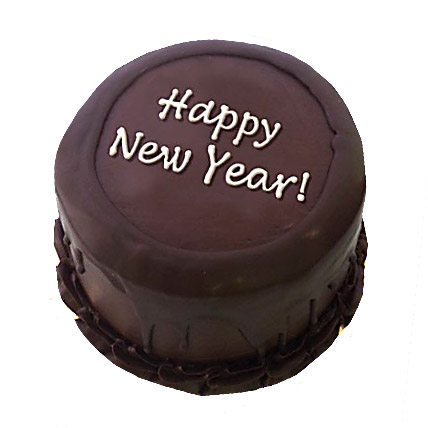 happy new year chocolate egg less cake 1kg