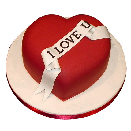 Red Heart Love You Cake 1kg Cake Industry Cake Industry
