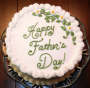 father_s day cake with floral decor
