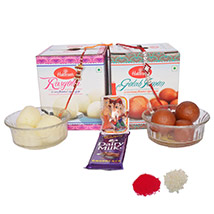 Rakhi Gifts Delivery in Sirhind fatehgarh sahib, Send Rakhi to Sirhind ... Delicious Haldiram Sweets hamper along with free Rakhi, Roli tilak and Chawal free