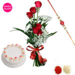 Send Rakhi with Dry Fruits in chandigarh | Rakhi with Dry Fruits to chandigarh.same day rakhi gifts delivery in chandigarh