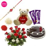 Rakhi Delivery in Phagwara, Send Rakhi to Phagwara, Online Rakhi to Phagwara, Nicely Gift Wrapped Designer Rakhi for your brother with Rakhi sweets cakes Hamper send to Phagwara Homemade Best Brother Chocolate with KIDS Rakhi to Phagwara
