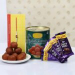 SEND RAKHI AND CAKE TO FARIDKOT ,CAKE INDUSTRY offer 30% RAKHI SALE SAME DAY RAKHI CHOCOLATES ,RAKHI SWEETS in MOGA on hampers Chocolates TO FARIDKOT