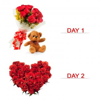 Send Valentine Flowers Gifts Teddy To Firozpur Online 25 Off