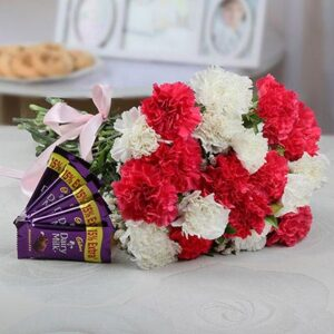 bunch-of-20-mixed-carnations-with-5-cadbury-dairymilk-bars