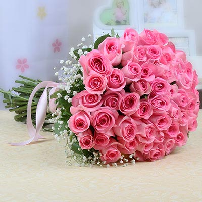 Bunch Of 50 Pink Roses Cake Industry Cake Industry