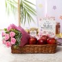 bunch-of-6-pink-roses-ferrero-rocher-box-with-basket-of-apples
