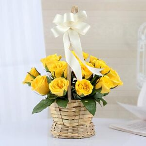 round-handle-basket-of-yellow-roses