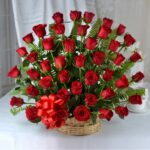 basket-arrangement-of-40-red-roses