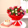 bunch-of-25-mix-roses-with-half-kg-pineapple-cake