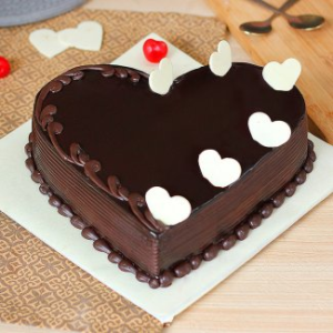 heart shape Chocolate Cake1