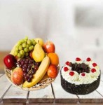 CAKE AND FRUIT BASKET