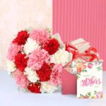 carnation with card