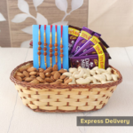 dry fruit & chocolate rakhi combo