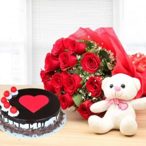 new cake with roses combo