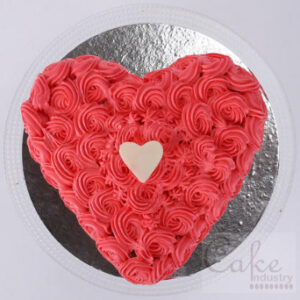 Send roses and heart shape cake to patiala
