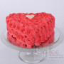Online roses heart shape cake Delivery in Patiala