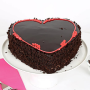 valentines chocolate heart cake