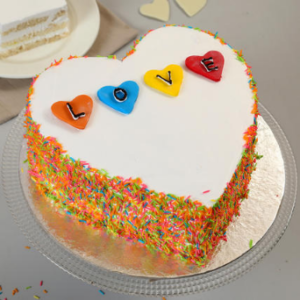 valentines special heart shape cake