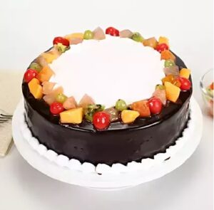 vanilla chocolate fruit cake Home delivery to patiala