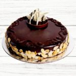 Eggless-Chocolate-with-almonds-Cake-home-delivery-in-Punjab