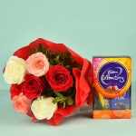 mix roses with chocolate bix