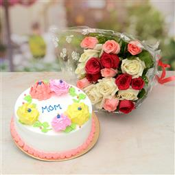 send flowers and cake combo to patiala