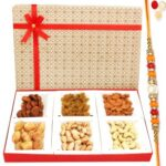 Beige 6 Part Dryfruit Box with
