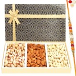 Blue Gold 3 Part Dryfruit Box with