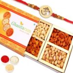 Dryfruit Box With Om Rakhi