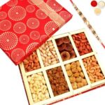 Dryfruit Box With Pearl Rakhi