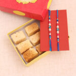 milk cake with rakhi