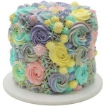 Colorful rose birthday cake