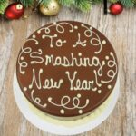 new year chocolate cake