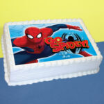 spiderman Pinrapple photo cake