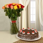 40 Mixed Roses Cake