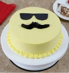Mustachies Smiley cake