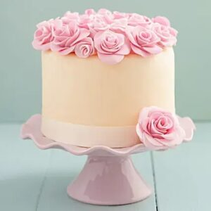 Beautiful Floral Chocolate Cake