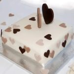 Forever Hearts Designer Chocolate Cake