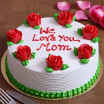 floral cake for mom